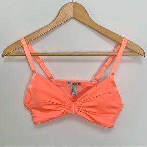 Forever 21 XXI Bright Orange Sports Bra